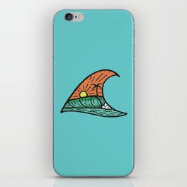 Wave in a Wave - Teal iPhone Skin