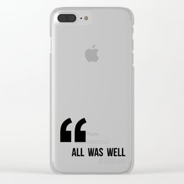 All Was Well - JK Rowling Clear iPhone Case