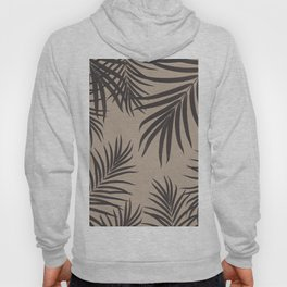 Palm Leaves Pattern Sepia Vibes #1 #tropical #decor #art #society6 Hoody