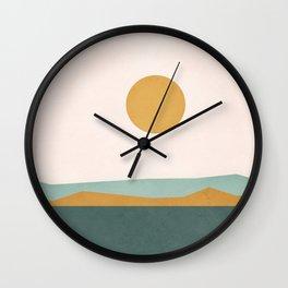 Minimal Line Scape III Wall Clock