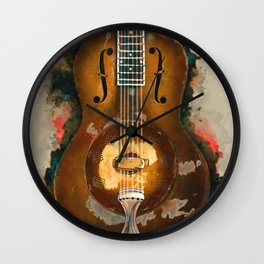 Rory Gallagher's resonator guitar Wall Clock