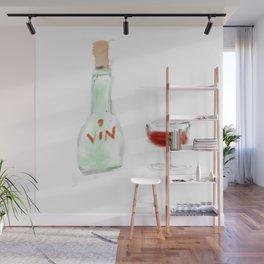 bottle of wine Wall Mural