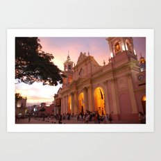 mexico church 2 Art Print