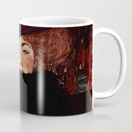 "Gustav Klimt ""Lady with Hat and Feather Boa"" Coffee Mug"