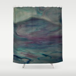 Misty Highlands - Abstract Art by Fluid Nature Shower Curtain