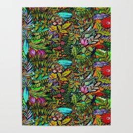 Colorful Bush Poster