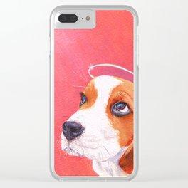 beagle portrait Clear iPhone Case