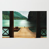 lake Area & Throw Rugs featuring Lake by Viggart