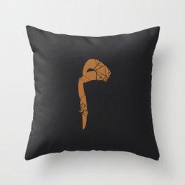 arabic letter M Throw Pillow