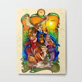 The Golden Goddesses  Metal Print