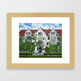 Eckhart Hall at the University of Chicago Framed Art Print