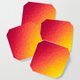 Fiery Pattern Coaster