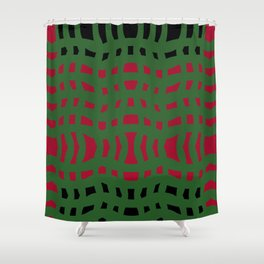 Christmas Plaid Green and Red Shower Curtain