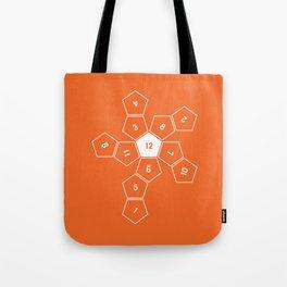 Orange Unrolled D12 Tote Bag