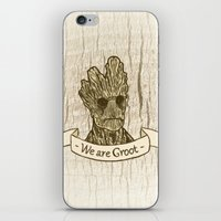 groot iPhone & iPod Skins featuring Groot by Lynn Bruce