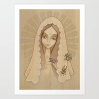 santa Art Prints featuring Santa by Juliana Fusco