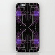 Circuit board purple repeat iPhone & iPod Skin