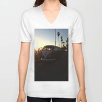 vw V-neck T-shirts featuring VW by Sabrina Daniella