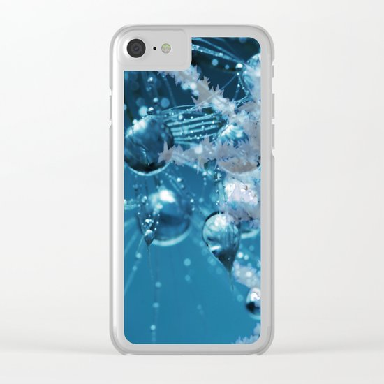 Ice Flower abstract Clear iPhone Case
