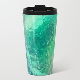 Underwater Macro Photography With Green Bubbles Travel Mug