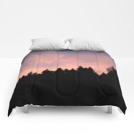 Forrest in sunset palette Comforters