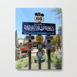 Welcome to Radiator Springs Metal Print