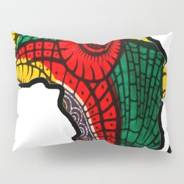 Rasta Africa Map Pillow Sham