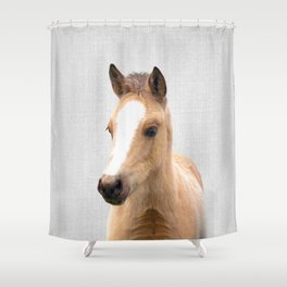 Baby Horse - Colorful Shower Curtain