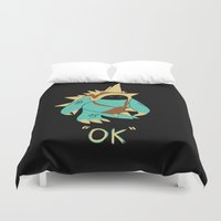 kim sy ok Duvet Covers featuring Ok by YiannisTees