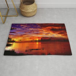 dramatic sunset in 1,500 pixels (30x50) Rug
