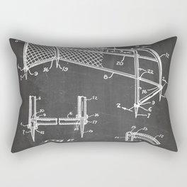 Soccer Patent - Soccer Goal Art - Black Chalkboard Rectangular Pillow