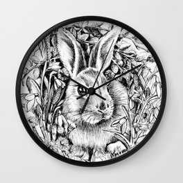 """Spring rabbit. From the series """"Seasons"""" Wall Clock"""