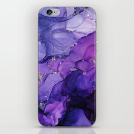 Violet Storm - Abstract Ink iPhone Skin