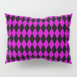 Pink and Black Harlequin Pillow Sham