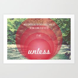 Unless | Red Art Print