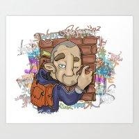 Need Fot Beef (Elements Of Graffity series) Art Print