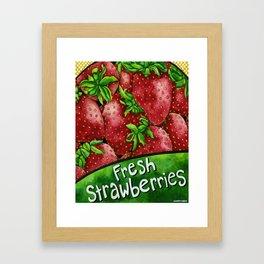 Fresh Strawberries Framed Art Print