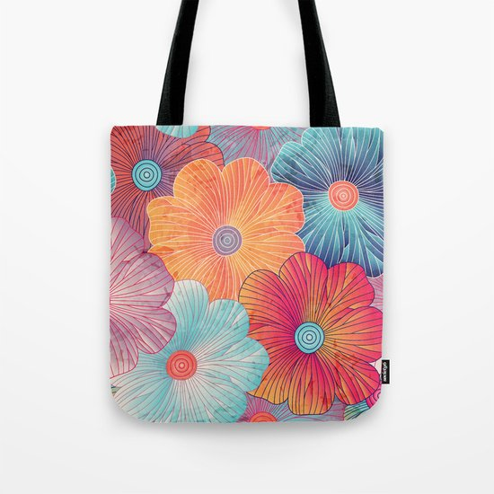 Big Bright Flowers Tote Bag