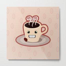 Kawaii Coffee Metal Print