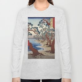 Maiko Beach, Utagawa Hiroshige, 1853 Long Sleeve T-shirt