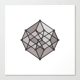 Graphic . 2 geometric shape gray Canvas Print