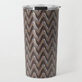 Metal silver gray zigzag Travel Mug