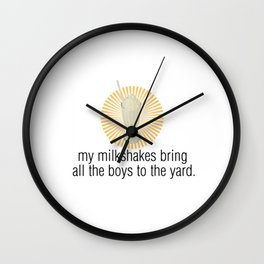 My Milkshakes... Wall Clock