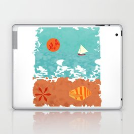Sunset at the beach Laptop & iPad Skin