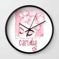 candy Wall Clocks featuring Candy  by Laia™