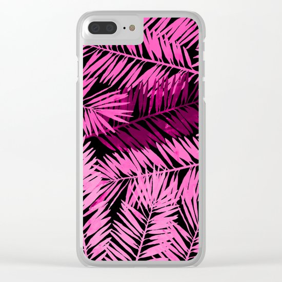 Tropical Palm Leaves IV Clear iPhone Case