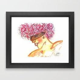 blind girl Framed Art Print