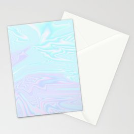 Blue Purple Holographic Stationery Cards
