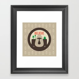 Believe Skoggs Troll Framed Art Print