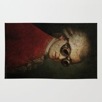 mozart Area & Throw Rugs featuring Funny Steampunk Mozart by Paul Stickland for StrangeStore